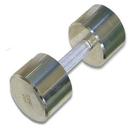 Гантель хромированная для фитнеса 9 кг MB-FitM-9, фото 1