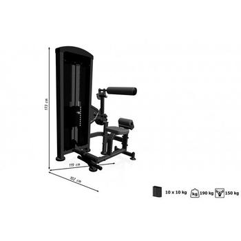 Пресс машина-Разгибание спины (тренажер 2в1) Marbo Sport MP-U220, фото 4