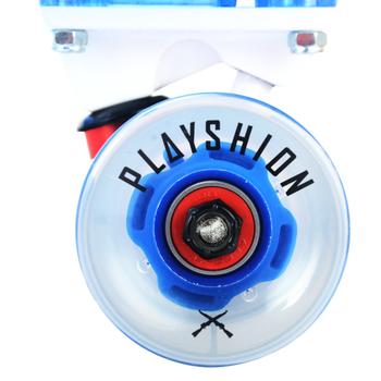 Скейтборд прозрачный PLAYSHION со светящимися колесами FS-LS002B (Синий), фото 4