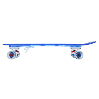 Скейтборд прозрачный PLAYSHION со светящимися колесами FS-LS002B (Синий), фото 2