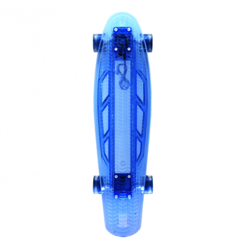 Скейтборд прозрачный PLAYSHION со светящимися колесами FS-LS002B (Синий), фото 3